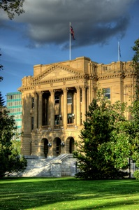 The Alberta Legislature Building in Edmonton, Alberta, Canada.