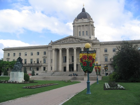 Parliament of Manitoba in Winnipeg, Canada